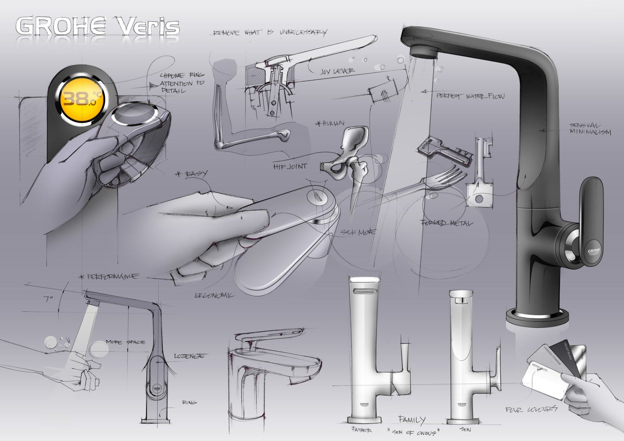 GROHE_Veris_Board | Bathroom | Pinterest | Board, Sketches and ...
