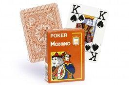 Cartes Modiano 4 index (marron) -Pokeo.fr - Jeu de 52 cartes Modiano 100% plastique 4 index de couleur marron.