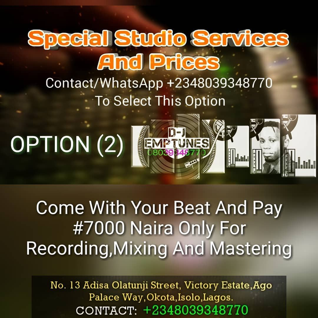 2 Come With Your Beat And Pay 7000 Naira Only For Recording