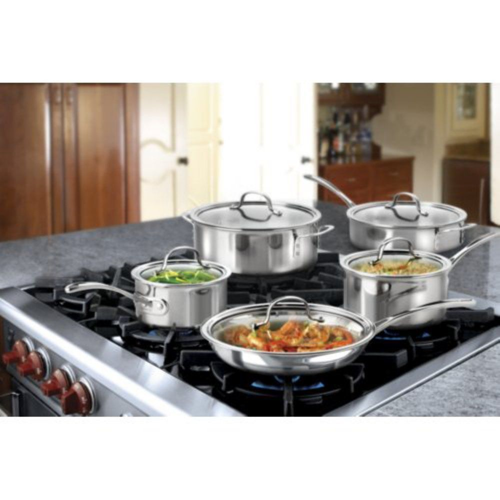 Calphalon tri ply stainless steel 10piece cookware set