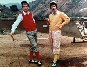 Elliott Gould and Donald Sutherland Golfing in Korea...M.A.S.H. style!