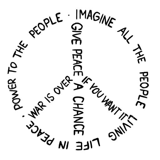 Imagine Peace Peace And Love Peace Peace Sign Art
