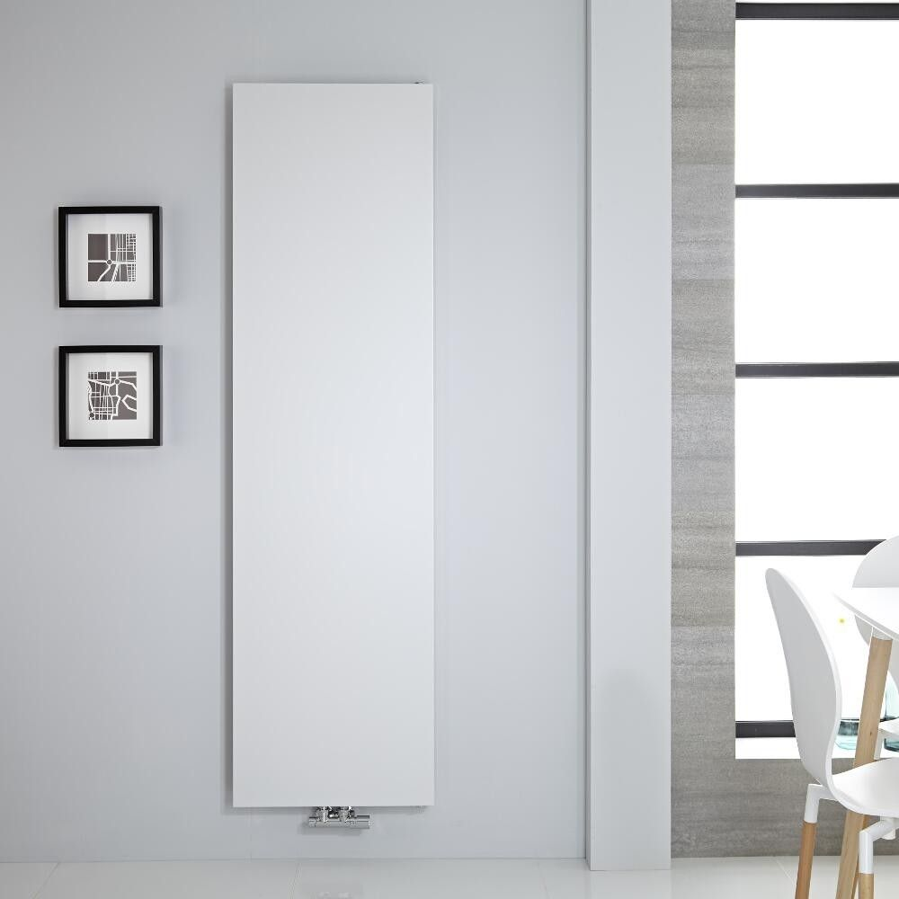 Vivara - White Vertical Flat-Panel Designer Radiator - 70.75\