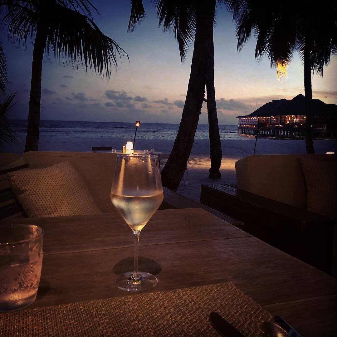 Nostalgia Tb Maldives Sunset Beach Dining Wine Honeymoon Memories Vacation Travel Travelphotogra Visit Maldives Travel Photography Maldives
