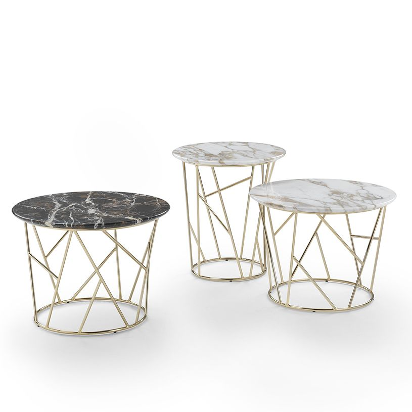 Fern Round Marble Coffee Table, Contemporary   Mobiliario ...