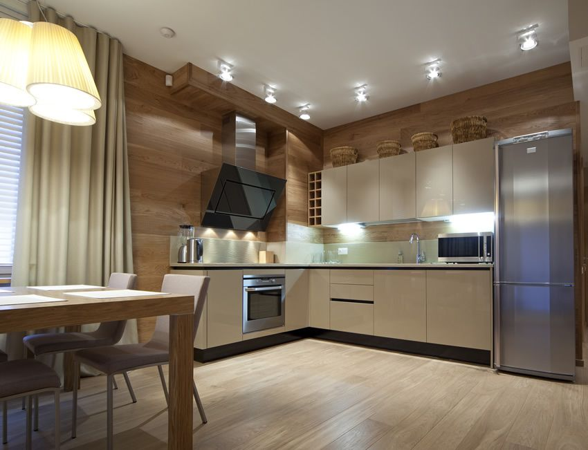 Bon Modern Apartment L Shaped Kitchen