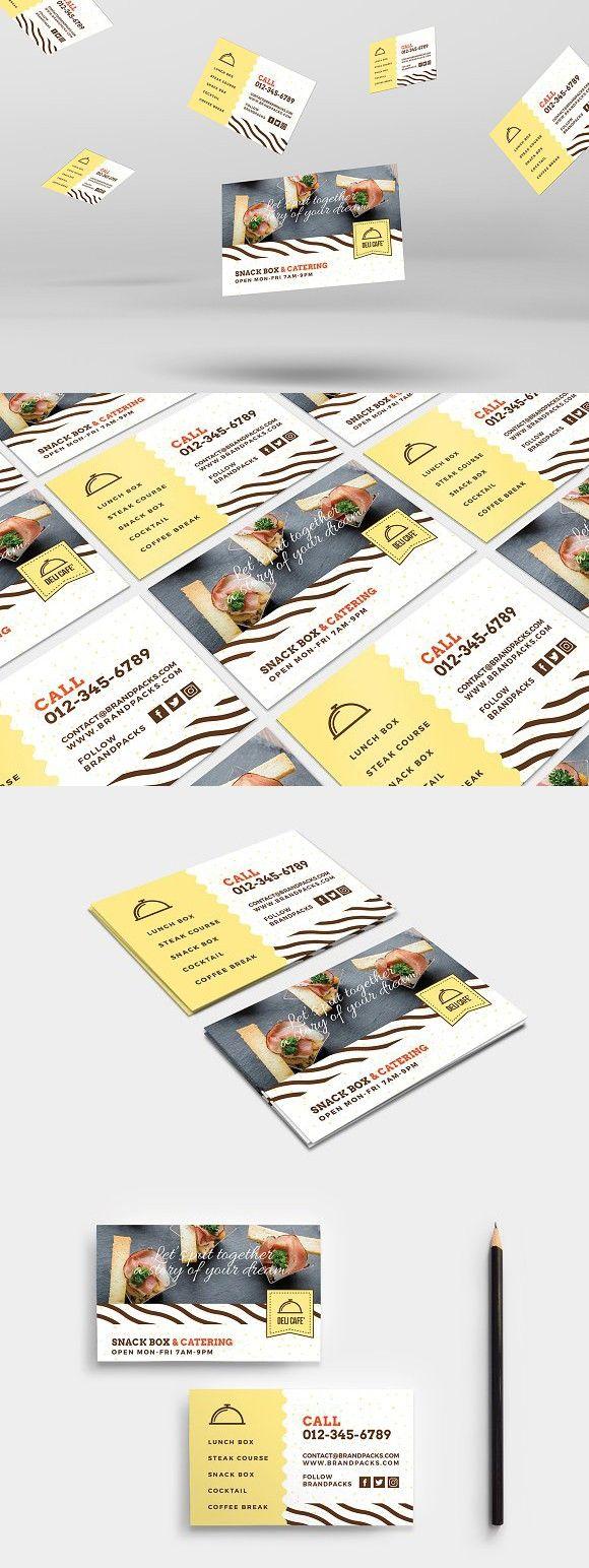 Catering Service Business Card Kartu