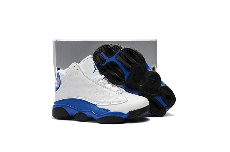 e96bf49b756 Youth Basketball Shoes 2018 Discount Kids Air Jordan 13 XIII Retro BG HYPER  ROYAL White Hyper Royal-Black