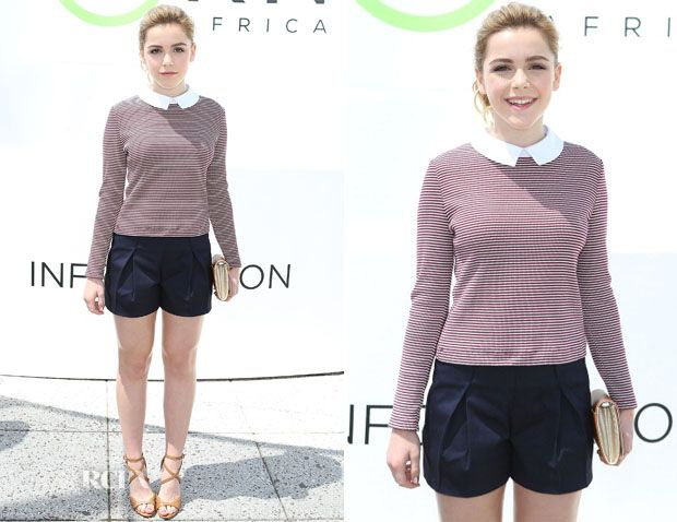 Kiernan Shipka In Tory Burch - Mother's Day Carnival in Support of Born Free Africa - Red Carpet Fashion Awards