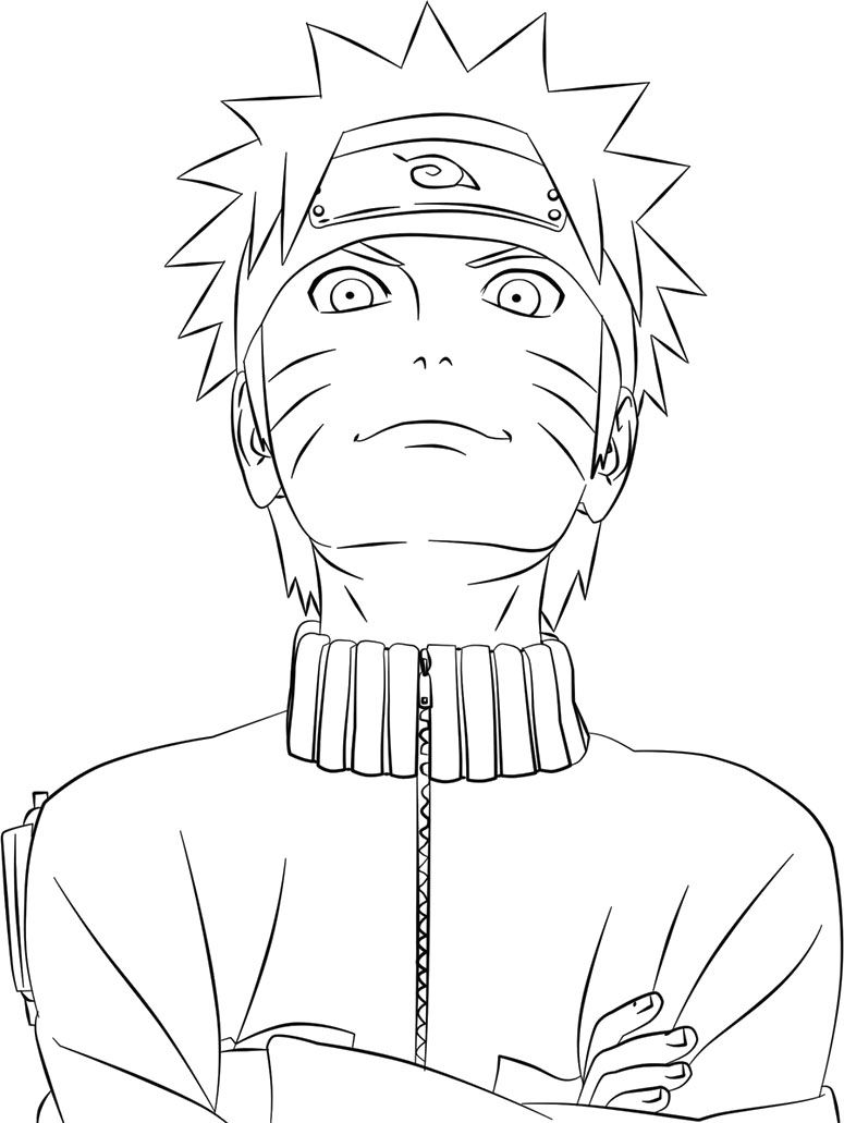 The Great Naruto Coloring Pages printable Pinterest Naruto