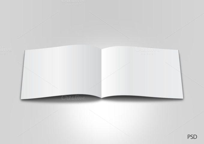 Blank Landscape Brochure Or Magazine By Designanddigital On