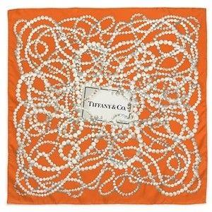 pearls silk scarf from Tiffany & Co