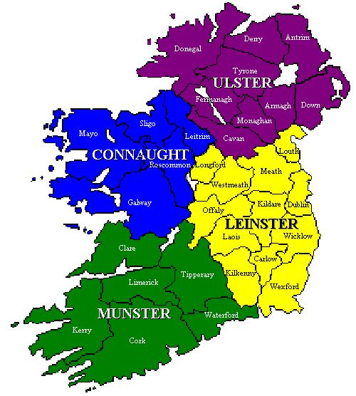 Map Of Ireland Provinces And Counties.Map Of Counties And Provinces Of Eire With Images Ireland Map