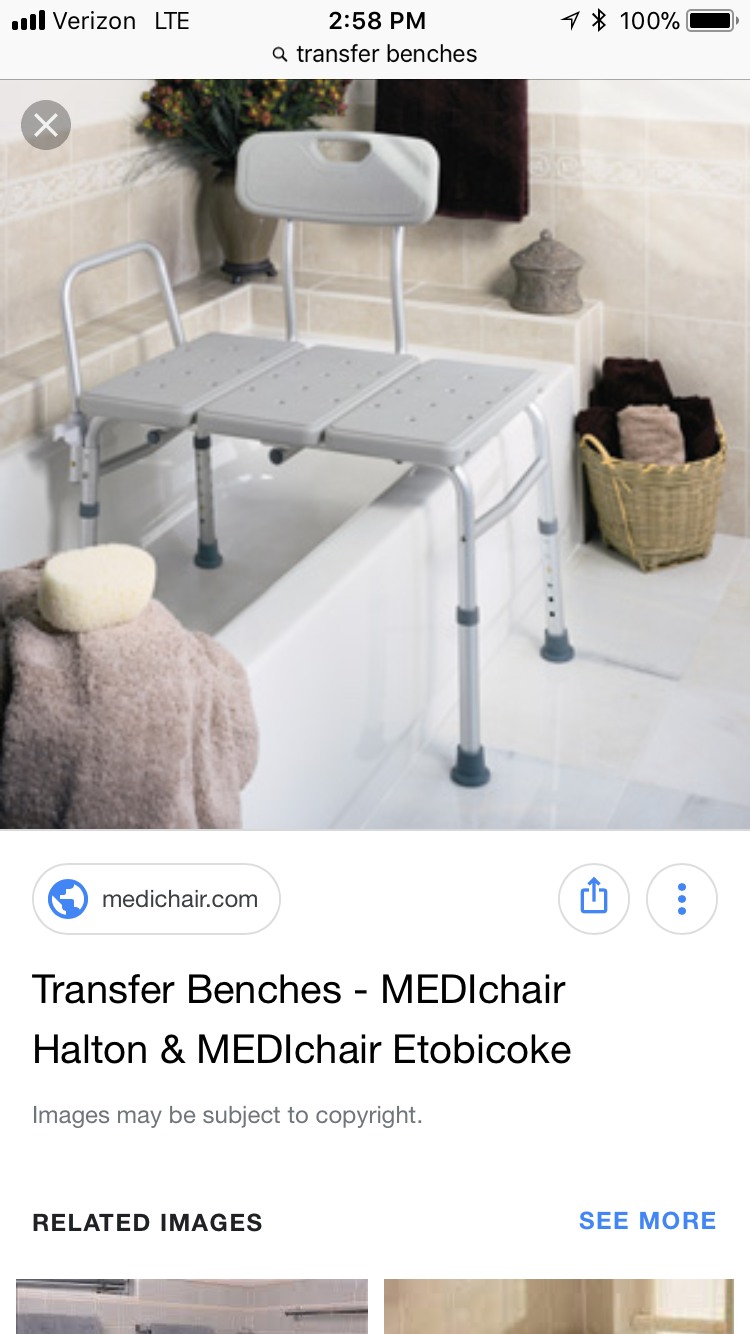 Tub Transfer Bench For Small Bathrooms