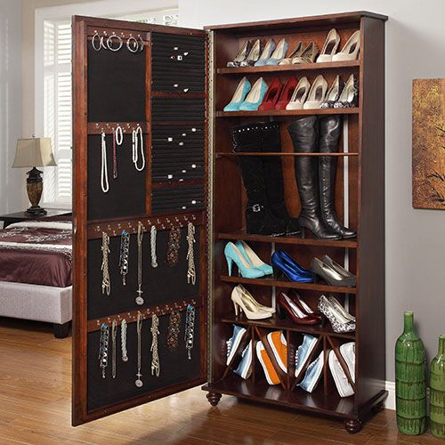 amazon white mirror racks com with organizedlife shoe organizer wooden wardrobe dp cabinet