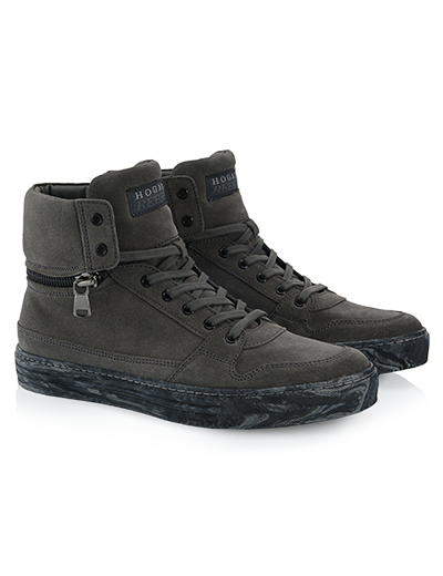 HOGANREBEL R206 Hightop sneaker in leather with visible