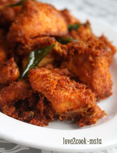 Love2cook Malaysia Ayam Goreng Berempah Serai Masakan Malaysia Resep Masakan Asia Ayam Goreng
