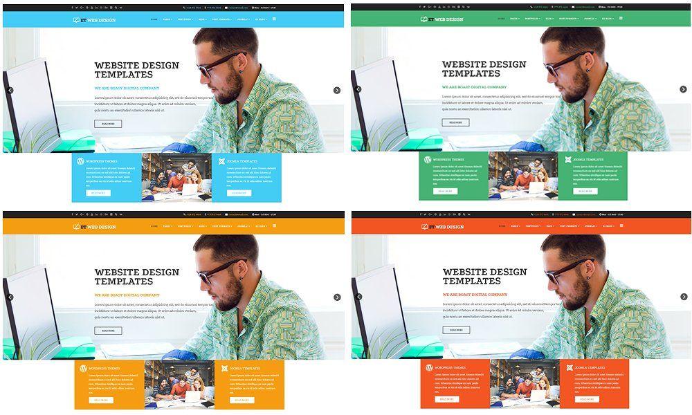 Et Web Design Design Joomla Web Design Website Template Design Advanced Typography