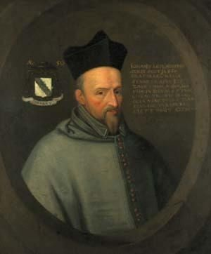 John Leslie, the Scottish Roman Catholic cleric. Leslie was one of the main advisors to Mary, Queen of Scots, and was her accredited representative at Queen Elizabeth's court in England. He was forced to flee abroad when his involvement in the 'Ridolfi Plot' to overthrow Queen Elizabeth I and place Mary on the throne of England was exposed.