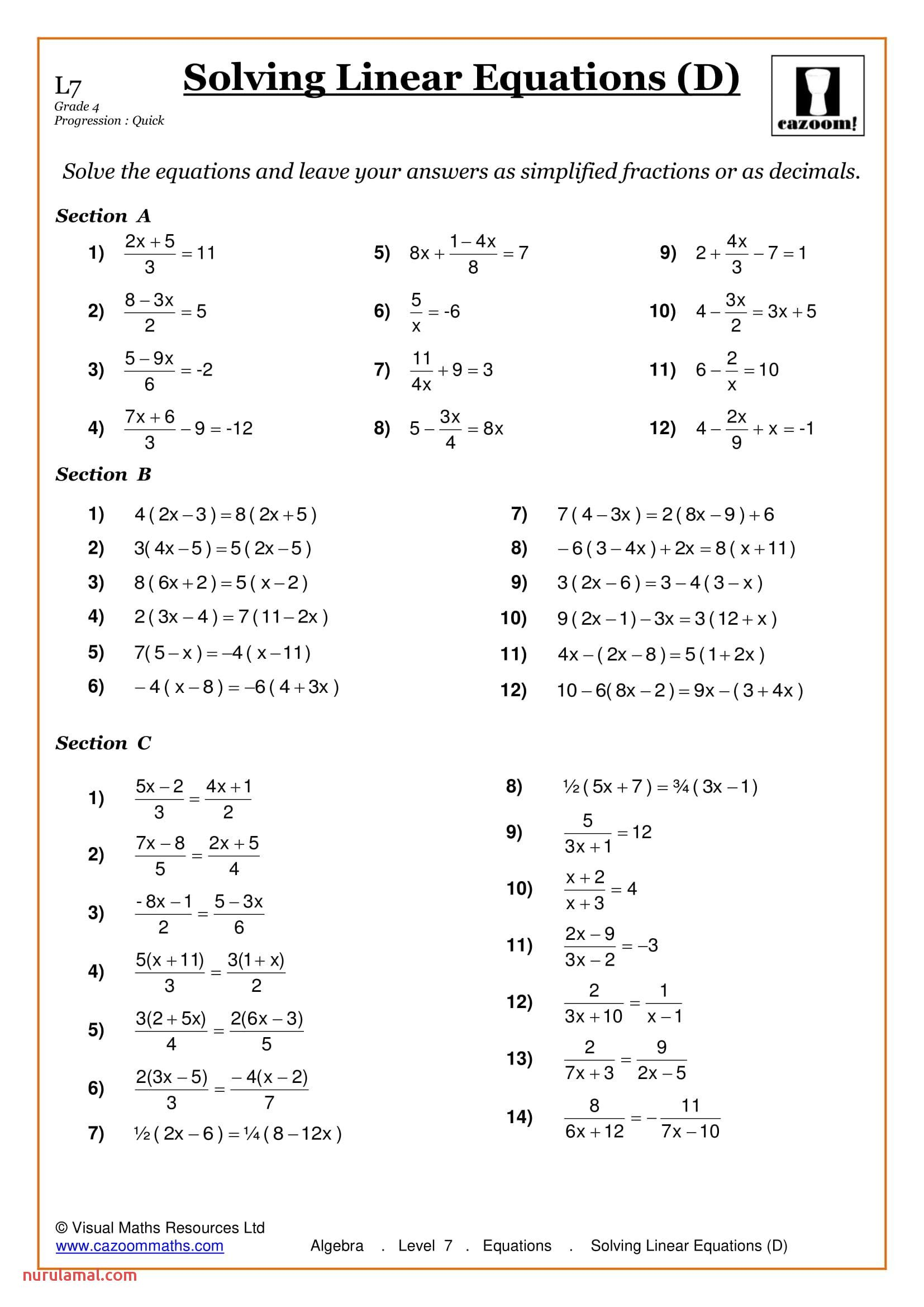 Free Maths Worksheets Ks2 Percentage Algebra Worksheets Solving Equations Pre Algebra Worksheets