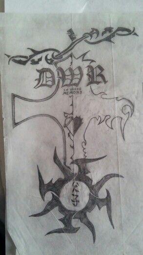 Memorial tattoo draft 2