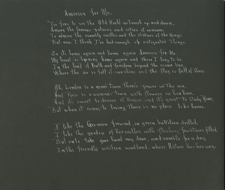 """Henry Van Dyke """"America for Me"""""""