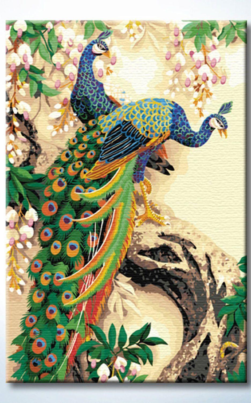 DiyOilPaintings Paintworks Peacocks Paint By