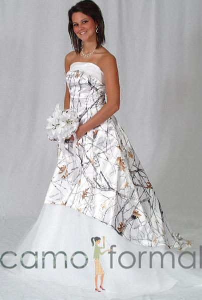Winter Camo Wedding Dress Someday If I Ever Get Married I Will Be Wearing This Camo Wedding Dresses Wedding Dresses Camouflage Wedding Dresses