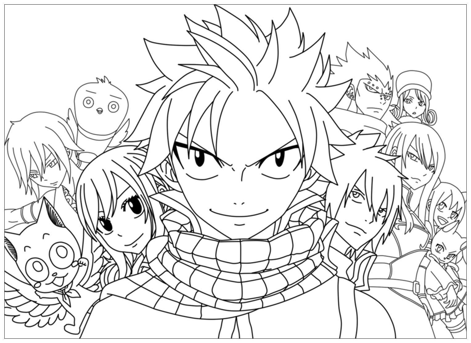 Free Fairy Tail Coloring Page To Print And Color For Kids From The Gallery Fairy Tail Coloring Pages Cartoon Coloring Pages Free Anime Characters [ 1113 x 1528 Pixel ]