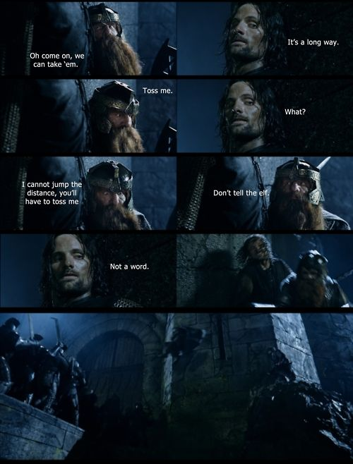 The Lord of the Rings: The Two Towers. One of the best scenes