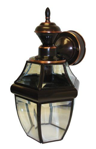 Heath Zenith Sl 4166 Ac Motion Activated Antique Copper 6 Sided