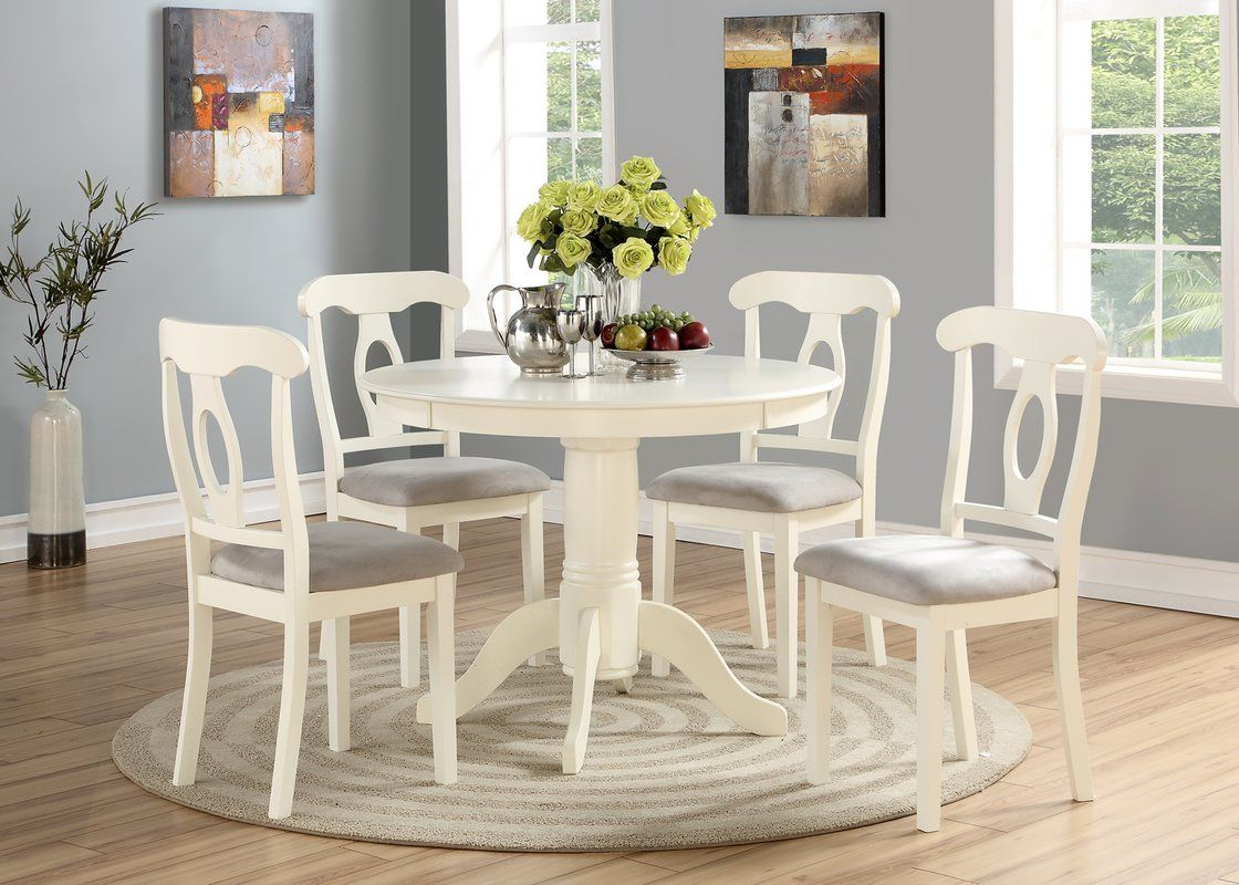 Charlton Home Adda 5 Piece Dining Set Reviews Wayfair Dining Room Sets Dining Table Chairs Round Dining Table