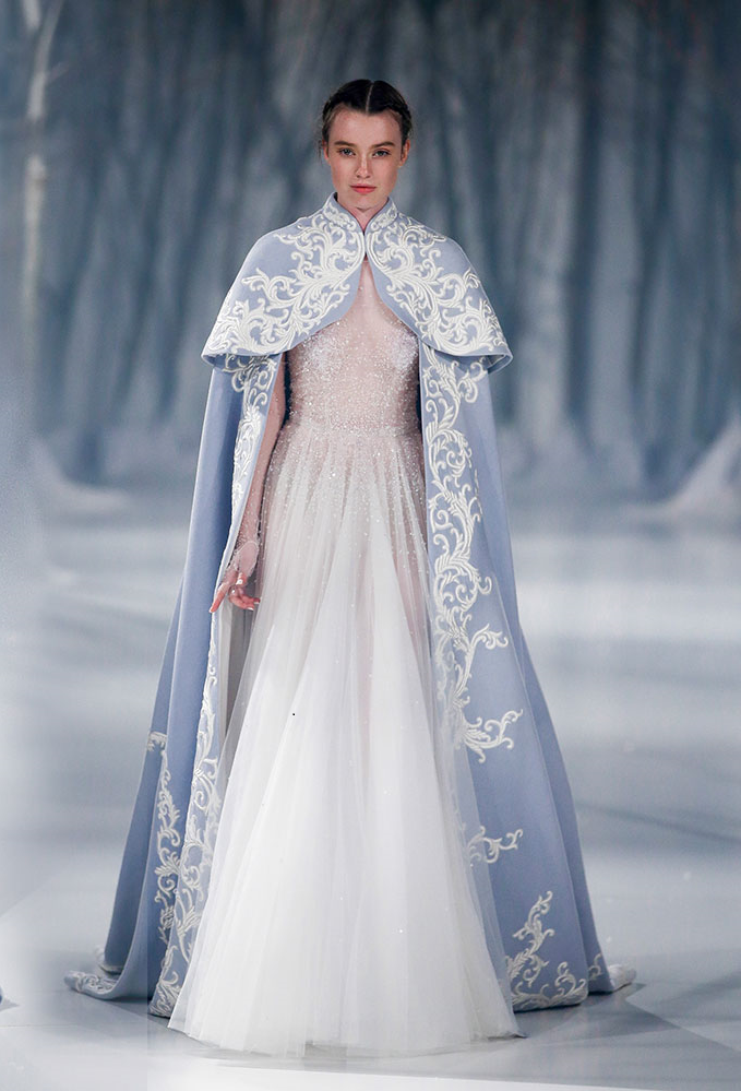 Wedding Accessories Usa Suppliers High Neck Long Embroidery Cape Blue Sleeves Satin Bridal Bolero Exquisite Lace
