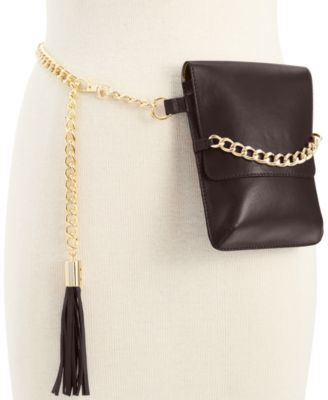 c94aab63775e MICHAEL Michael Kors Leather Belt Bag with Tassel