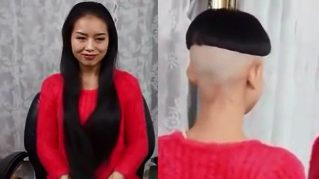 Long To Short Haircut Makeovers Asian Girls From Very Long Hair