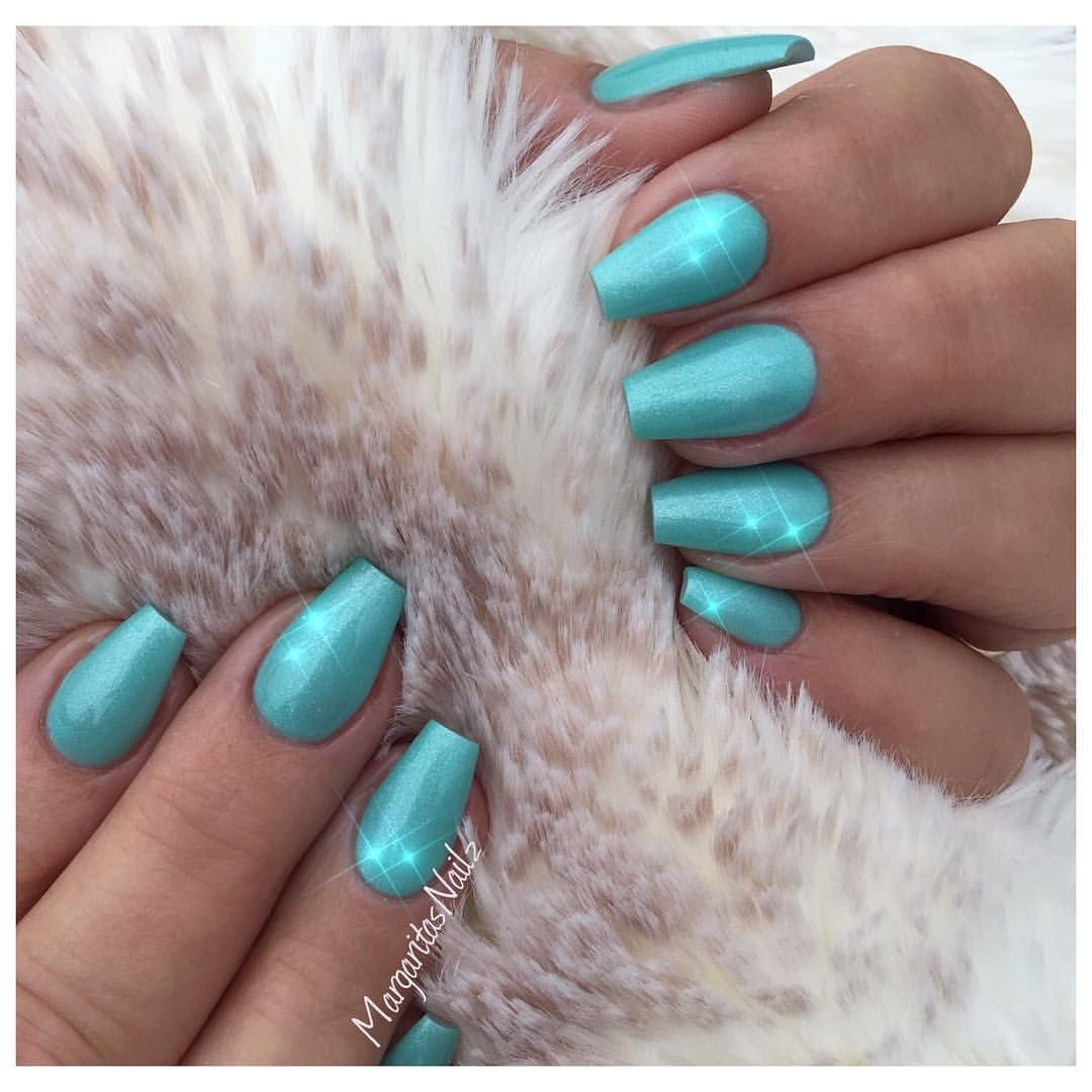 Aqua blue coffin nails nail art design short natural nails aqua blue coffin nails nail art design short natural nails prinsesfo Images