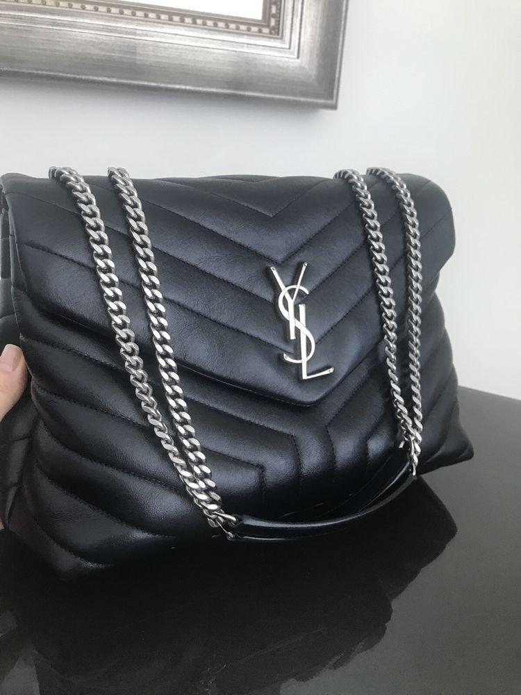 24575842aed YSL Saint Laurent Loulou Medium Black