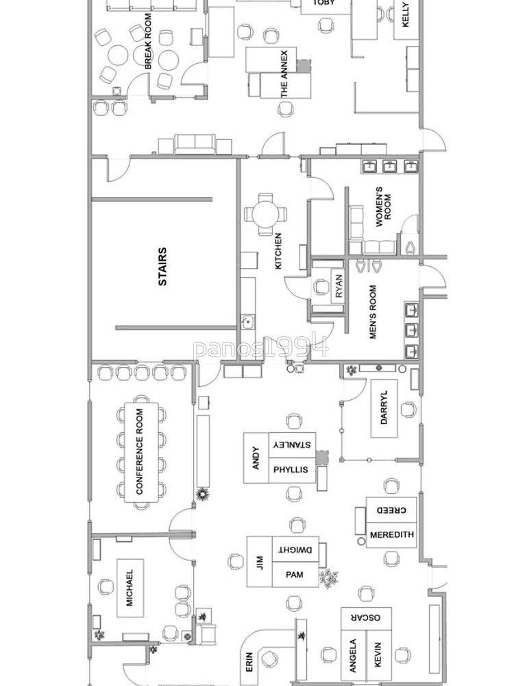 Dunder Mifflin Office Layout : dunder, mifflin, office, layout, Office, Floor, Plan