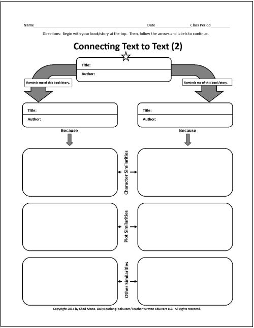 These free graphic organizers include character studies, conflict - character analysis template
