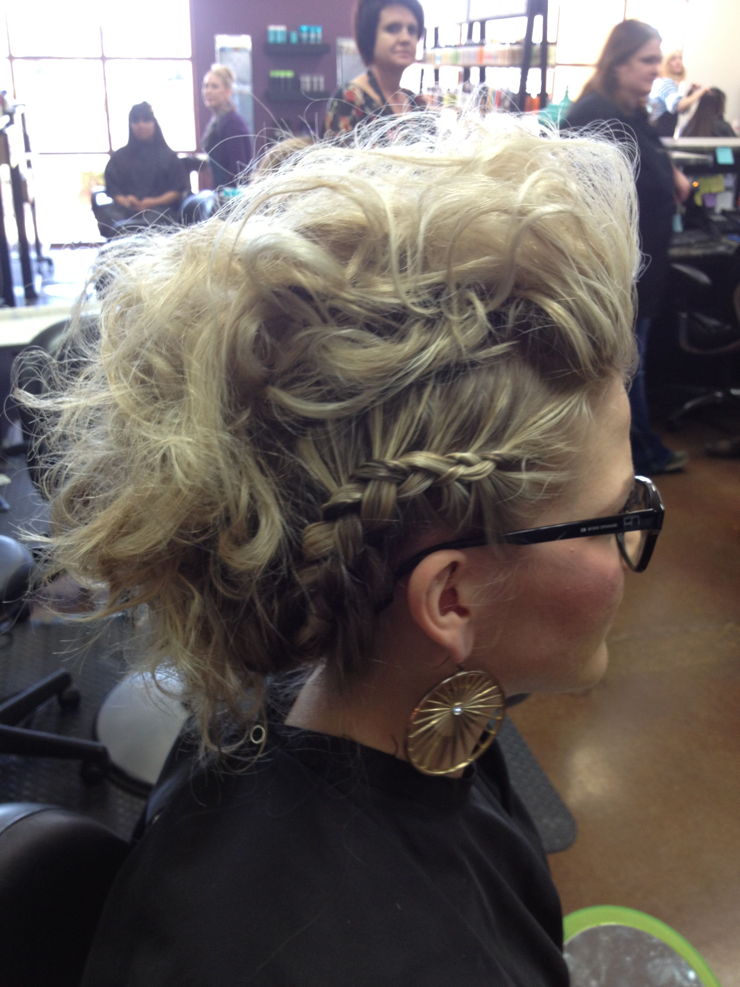 Braided updo hair pinterest updo mohawk updo and braided mohawk