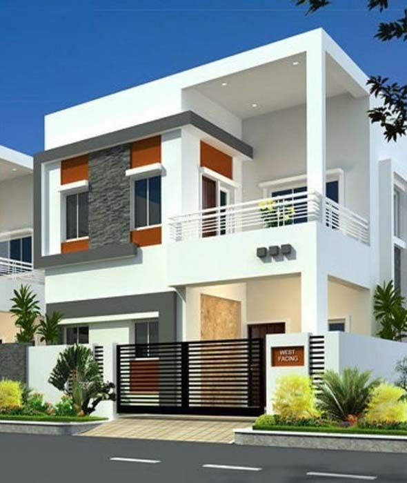 Modern House Plans Designs With Photos Entrance To The Combines Design Western Style Architecture Homes House Design Photos Modern Exterior House Designs Duplex House Design
