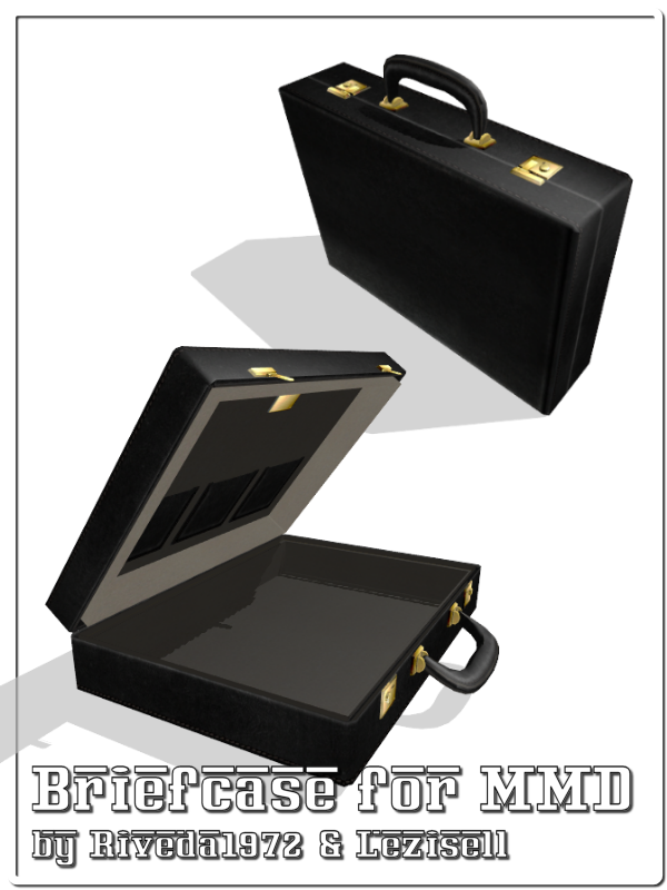 MMD] Briefcase for MMD (DL pmx) by Riveda1972   mmd models   Yandere