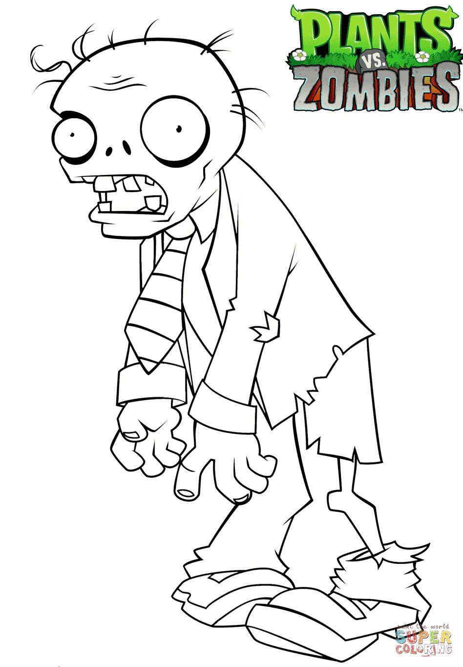 22 Best Photo Of Zombie Coloring Pages Plant Zombie Plants Vs