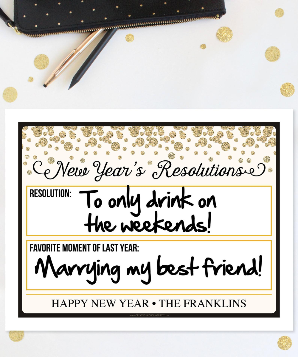 2020 New Year's Eve Mug Shot - New Year's Eve Photo Booth Props - Resolutions - Photo Prop - New Years Eve Decorations - Instant Download #newyearsresolutions