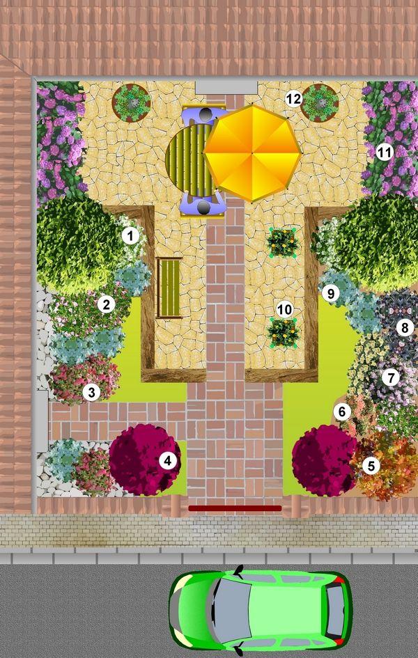 Massif d\'arbustes pour un petit jardin : | plans de jardin ...