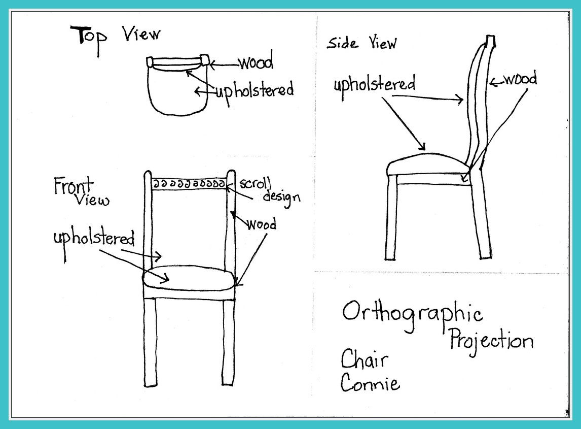 99 Reference Of Chair Sketch Orthographic Projection In 2020 Orthographic Projection Chair Cool House Designs