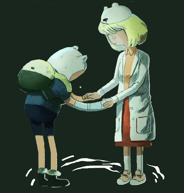 Finn and Minerva fanart / art - Adventure Time: Islands - Minerva Campbell - Finn Mertens