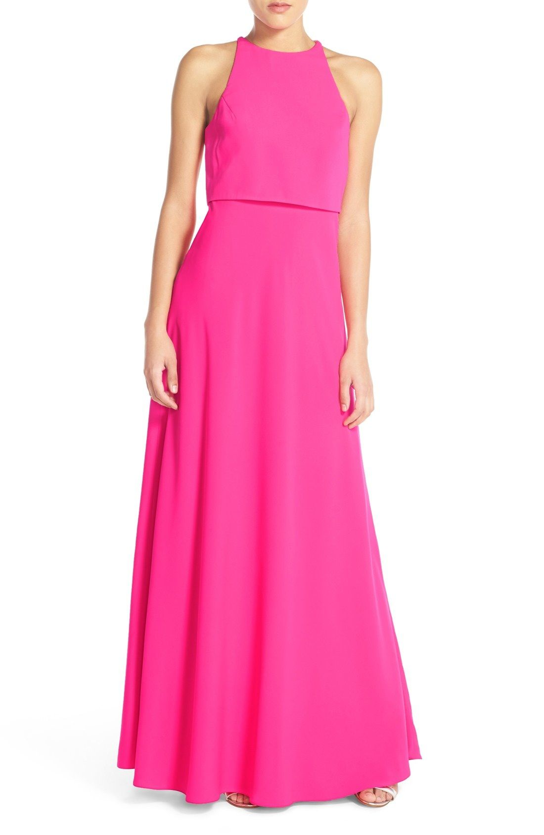Jill Jill Stuart Crepe Popover Gown available at #Nordstrom | Mother ...