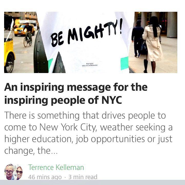 Posted this about the Be Mighty Flyers on Medium - thanks to @wellnessmorsels @nycspeaks @srphoto1 and @loli.bang.bang for such great pics - credits and links are in the post too! #thankyou #medium #blogger #nyc #streetart