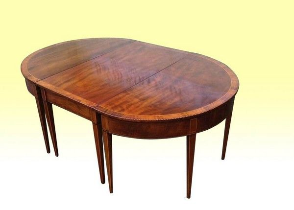 Fabulous Period Georgian Inlaid Mahogany Irish Dining Table Alluring Dining Room Furniture Ireland Review